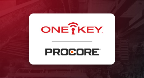Announcing: One-Key & Procore Partnership