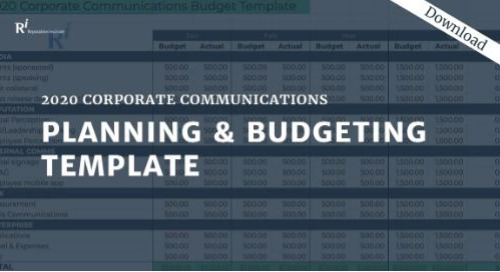 2020 Corporate Communications Planning & Budgeting Template