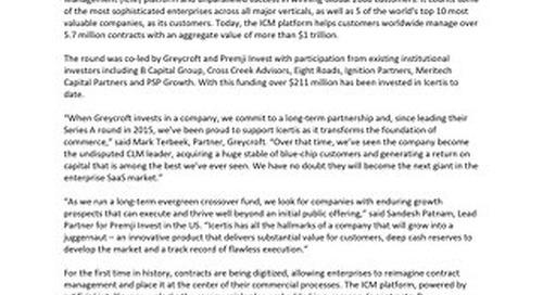 Series E Press Release