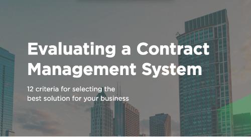 Evaluating an Enterprise Contract Management Solution