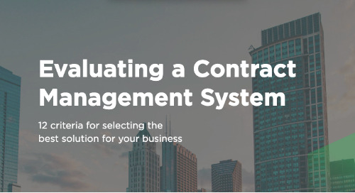 Evaluating an Enterprise Contract Management Solution