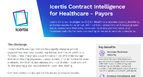 Icertis Contract Intelligence for Healthcare Payors