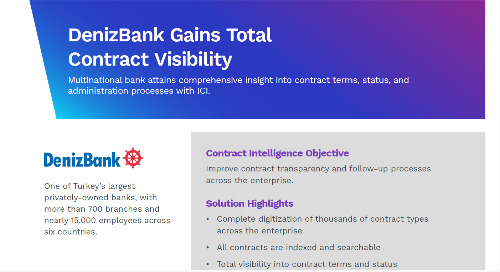DenizBank Gains Total Contract Visibility With Icertis