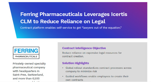 Ferring Reduces Legal Workload With Contract Intelligence