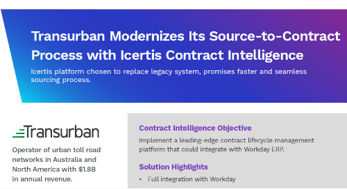 Case Study | Transurban Modernizes Source-to-Contract Process with Icertis