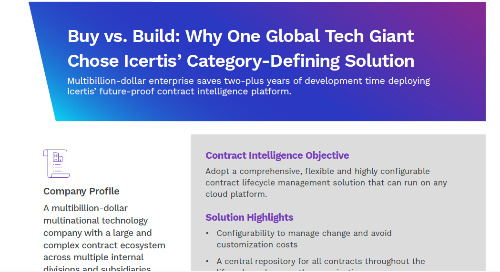 Global Tech Titan Choses Icertis to Accelerate Time-to-Value