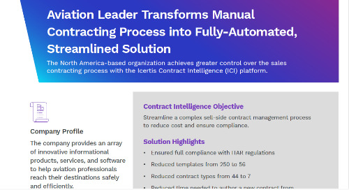 Aviation Leader Drives Efficiency and Compliance with Contract Intelligence