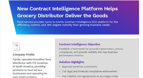 Contract Intelligence Platform Helps Grocery Distributor Deliver the Goods