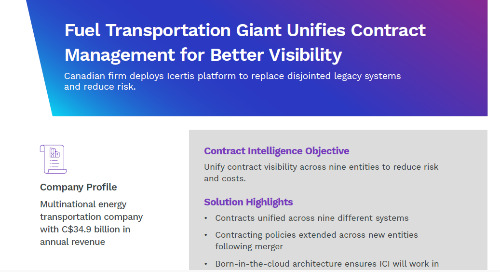 Energy Transportation Company Unifies Contract Management for Better Visibility