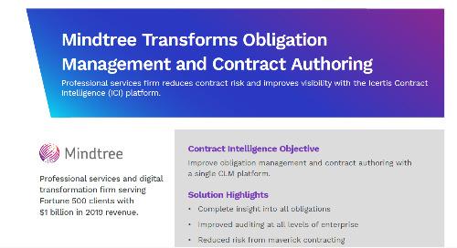 Mindtree Transforms Obligation Management With Icertis