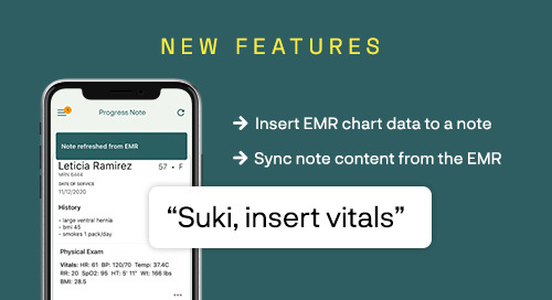 New Features: Sync EMR content to Suki!