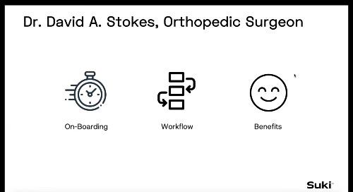 User Story: Dr. David Stokes, Orthopedic Surgeon