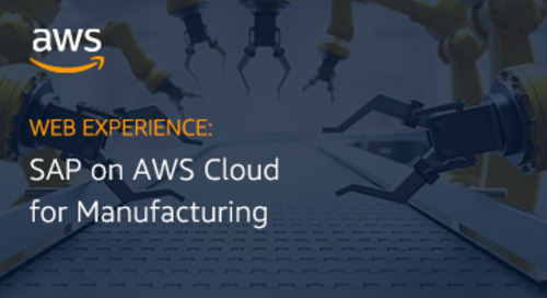 Web experience: SAP on AWS for Manufacturing landing page