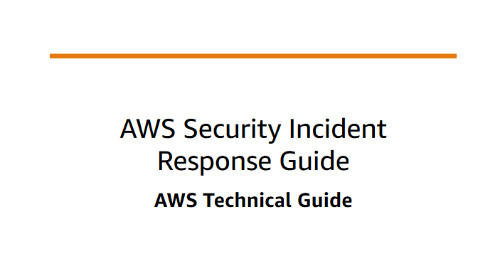 AWS Security Incident Response Guide