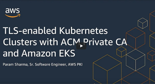 TLS-enabled Kubernetes clusters with ACM Private CA and Amazon EKS [Video]