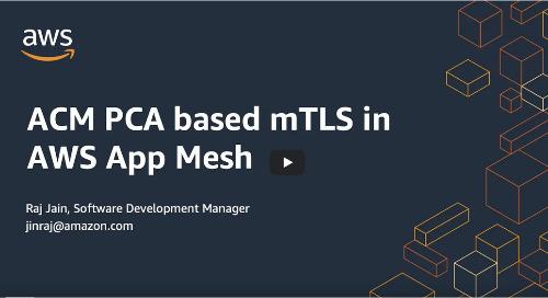 ACM PCA based mTLS in AWS App Mesh