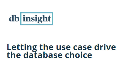 dbInsight Letting the use case drive the database choice