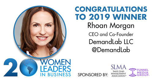 "Demandlab CEO Rhoan Morgan Recognized As One of SLMA's ""20 Women To Watch"" in Business for Fourth Year"