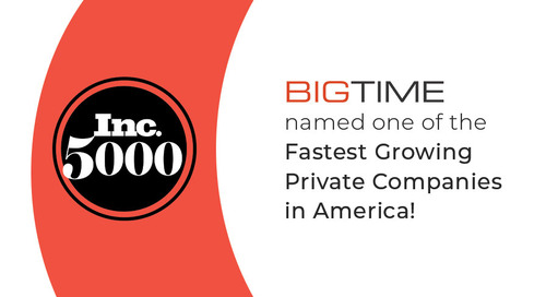 BigTime Software Named on Inc. 5000 List of Fastest Growing Companies in America