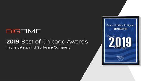 Bigtime Receives 2019 Best of Chicago Award