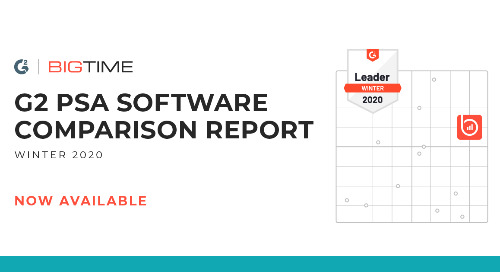 BigTime Software Named Top Solution in G2's Winter 2020 Grid® Report for PSA