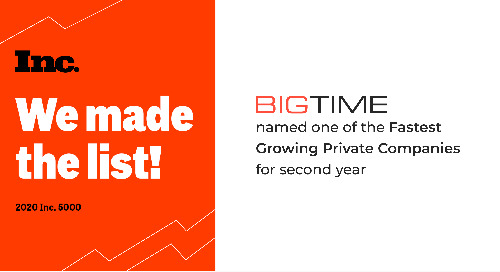BigTime Makes Inc. 5000 List, Reporting 117% Revenue Growth