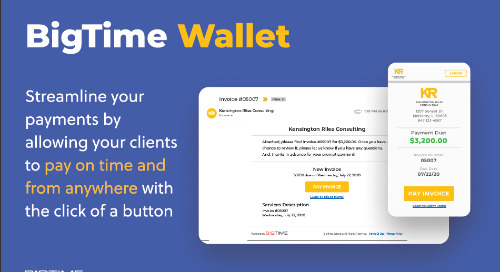 BigTime Wallet Feature Sheet