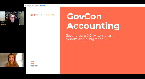 GovCon Accounting: Setting up a DCAA Compliant System and Budget for 2021