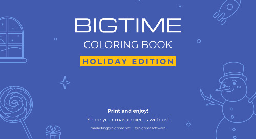 BigTime Coloring Book Holiday Edition