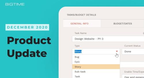 December 2020 BigTime Release