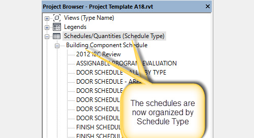 Take Control of your Revit 2018 Schedules