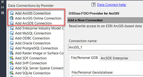 Requirements for an ArcGIS Connection in Map 3D