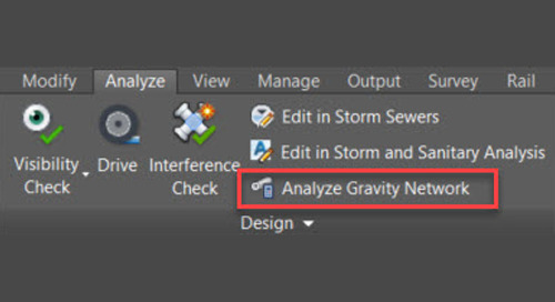 Analyze a Gravity Network in Civil 3D
