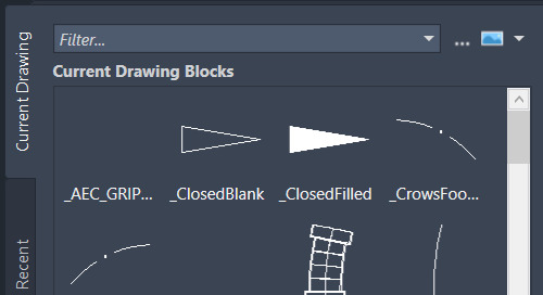 Enhanced 'Insert' interface for AutoCAD 2020