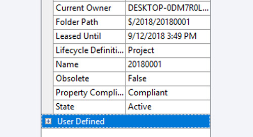 Adding User Defined Properties to Project Folders in Autodesk Vault
