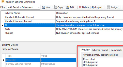 AEC Based Revisions in Vault Professional