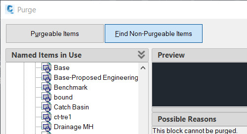 Purging in 2020 AutoCAD-Based Products