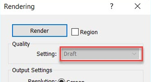 Revit Render Settings Grayed Out
