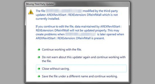 Revit: Missing Third Party Updater Message