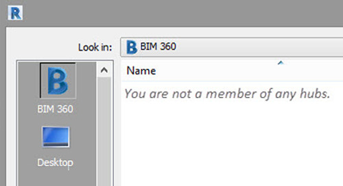 "Revit 2019 BIM 360 cloud models error ""You are not a member of any hubs"""