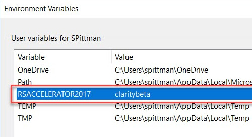 How to Remove the Revit Server Accelerator Environment Variable