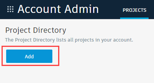 How to create a BIM 360 project