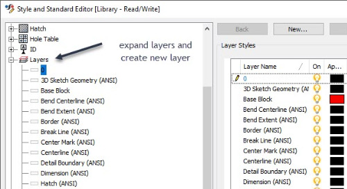 Creating Different Layers in an Inventor Drawing and Exporting to AutoCAD