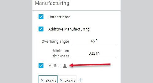 Generative Design Update: 3 & 5 axis milling