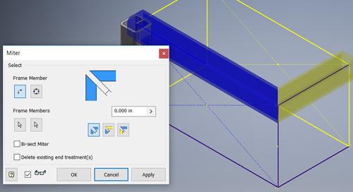 Inventor 2019 Frame Generator Enhancements