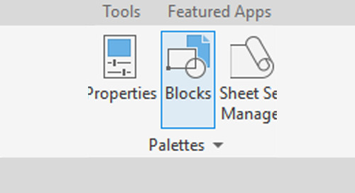New AutoCAD 2020 Blocks Palette