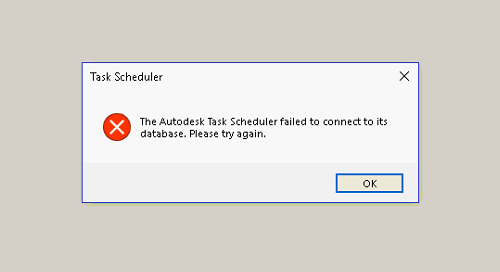 Inventor 2020-Task Scheduler error 'Unable to load odbcj32.dll'