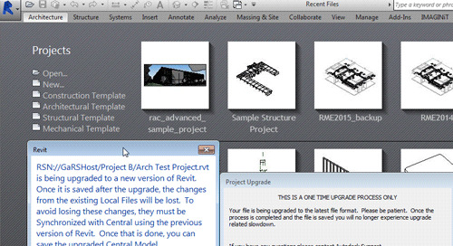Revit Server:  Alternate Project Upgrade Process
