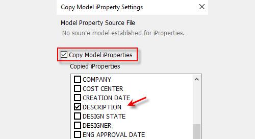 Passing Model iProperties to Drawing iProperties