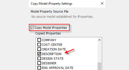 Passing Model iProperties to Drawing iProperties